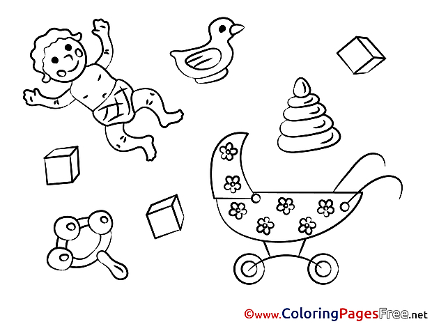 Toys Children Coloring Pages free