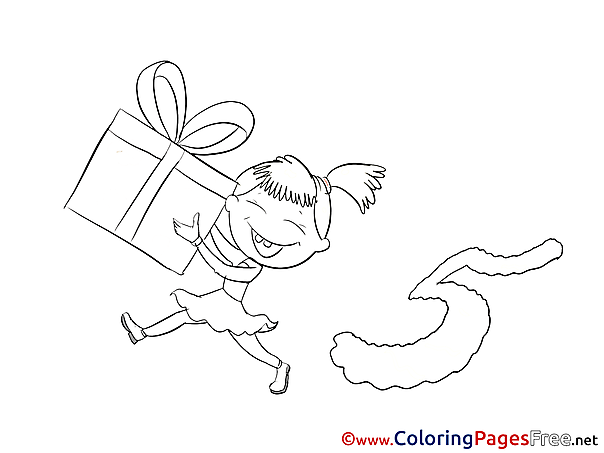 5 Years Geft Coloring Pages Happy Birthday for free