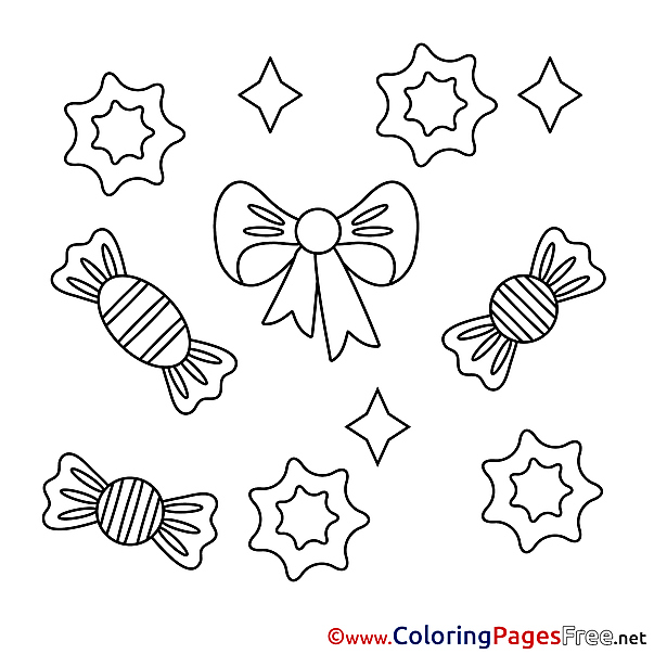 Candies Kids Happy Birthday Coloring Pages