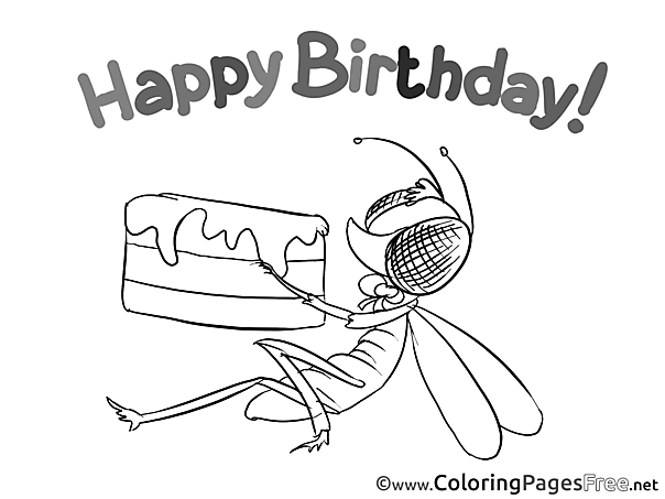 Fly free Happy Birthday Coloring Sheets