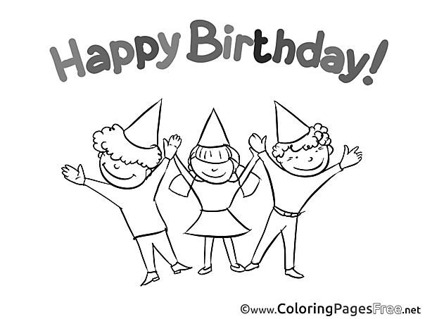 Friends Coloring Sheets Happy Birthday free