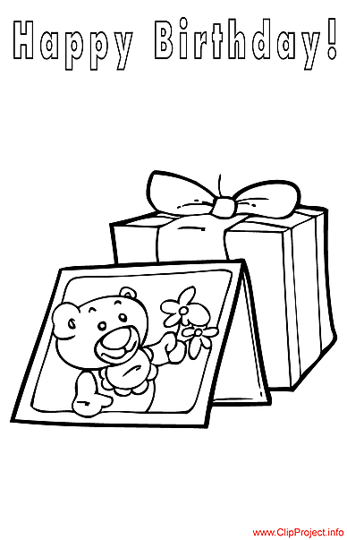 Gifts coloring page for Birthday