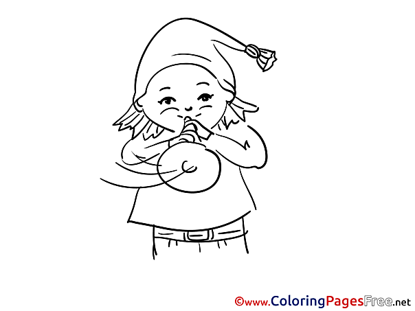 Gnome download Happy Birthday Coloring Pages