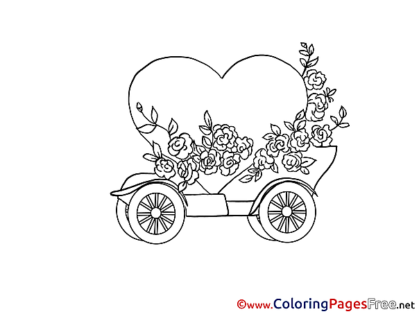 Heart free Colouring Page Happy Birthday