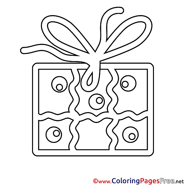 Image Gift download Happy Birthday Coloring Pages