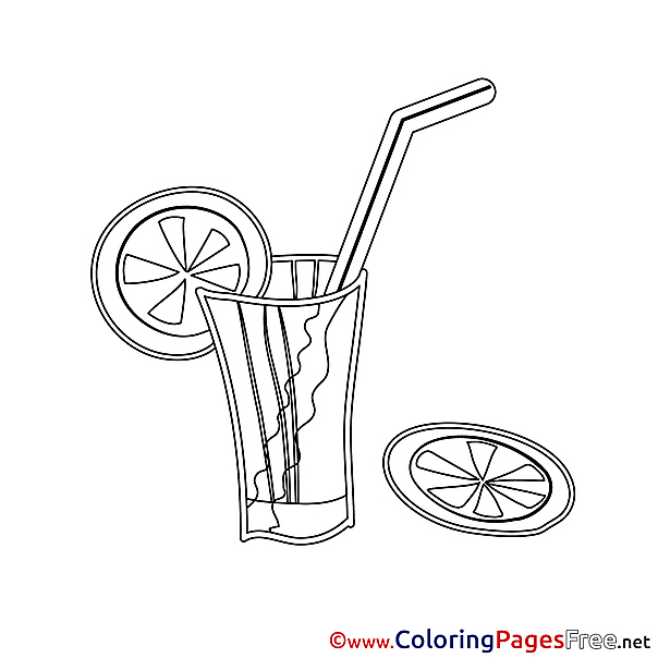 Juice for Kids Happy Birthday Colouring Page
