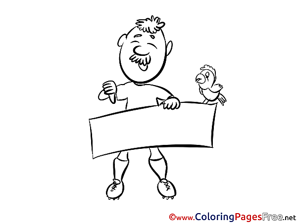 Man Kids Happy Birthday Coloring Pages