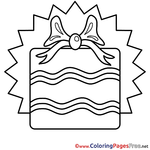 Picture Gift for Kids Happy Birthday Colouring Page