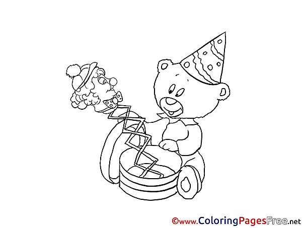 Toys printable Happy Birthday Coloring Sheets
