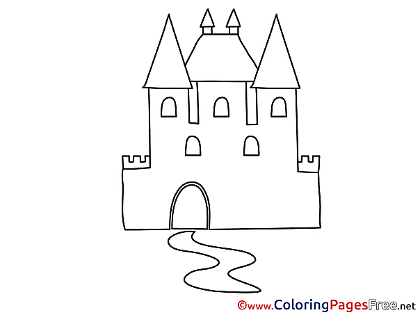 Castle for Kids printable Colouring Page