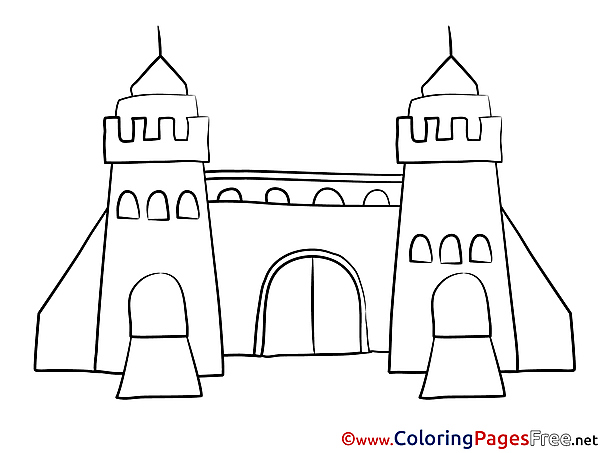 Gate Kids free Coloring Page