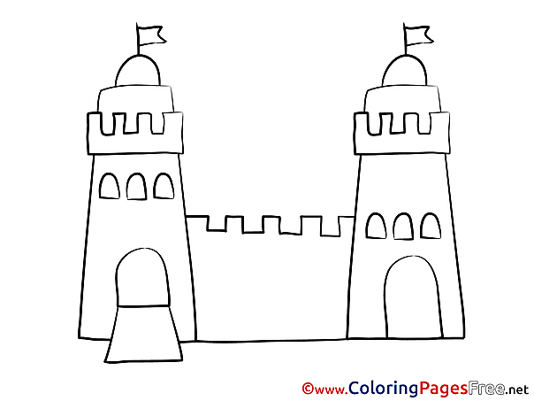 Tower Colouring Sheet download free