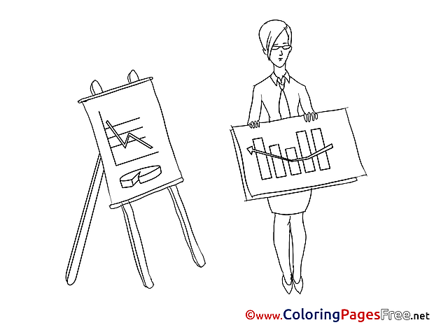 Chart Colouring Page Business free