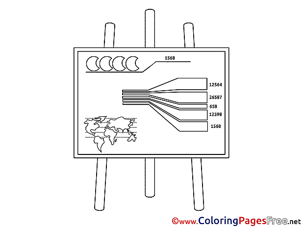 Diagram Business Coloring Pages free