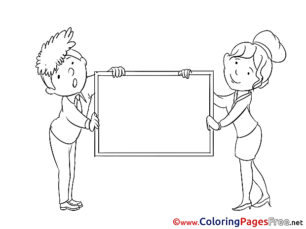Illustration Coloring Pages Business