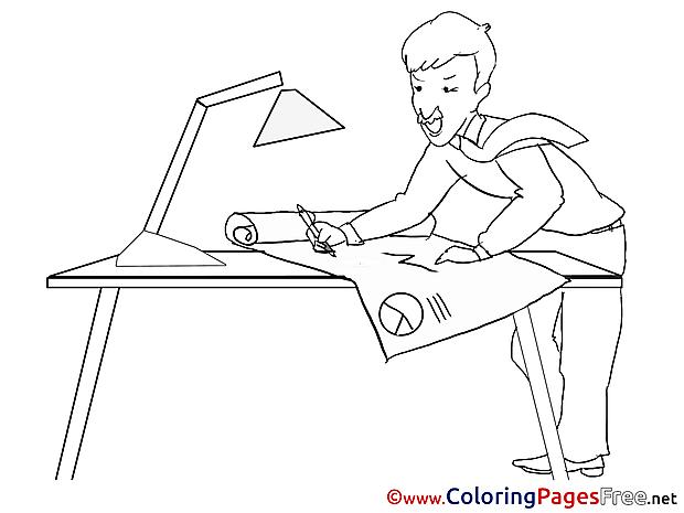Ingeneer Colouring Sheet download Business