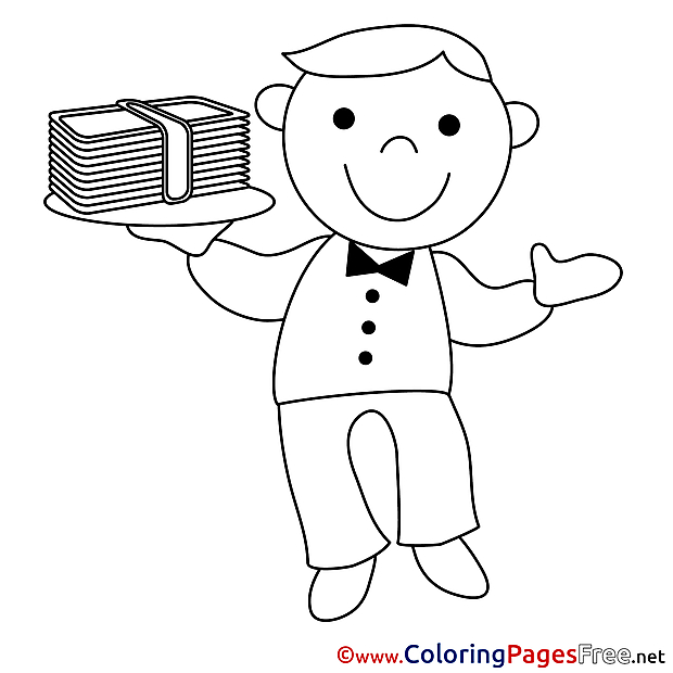 Man Money free Colouring Page Business