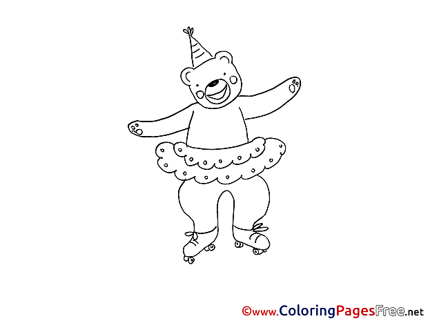 Bear for Kids printable Colouring Page