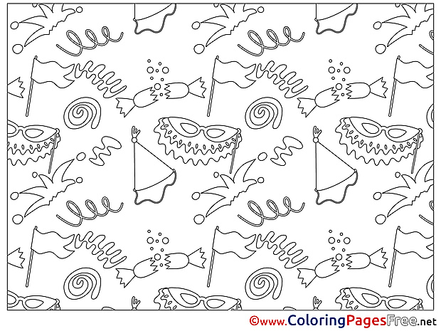 Children Decoration download Colouring Page