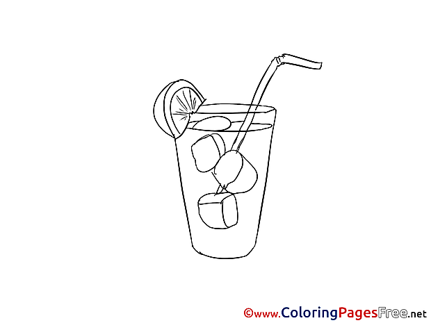 Cocktail Colouring Sheet download free