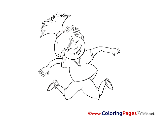 Colouring Page Girl printable free