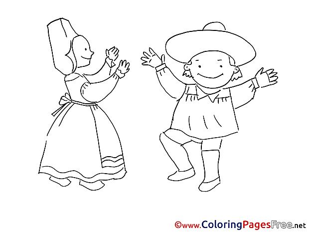 Costumes free printable Coloring Sheets
