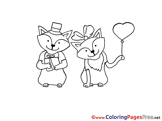 Fox download Colouring Sheet free