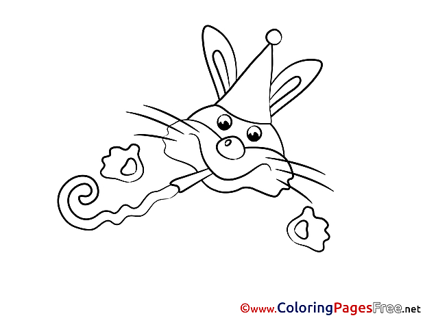 Hare Kids free Coloring Page