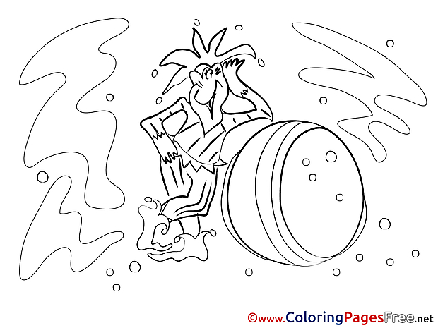 Jester free Colouring Page download