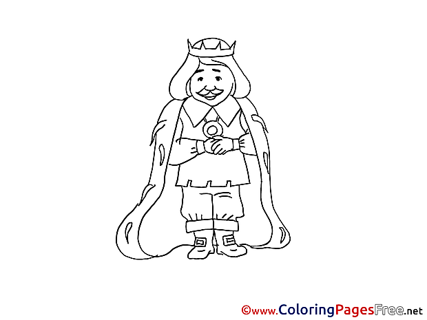 King Children download Colouring Page