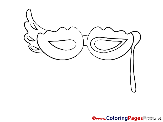 Mask Children Coloring Pages free