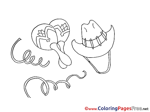 Mexican Kids download Coloring Pages