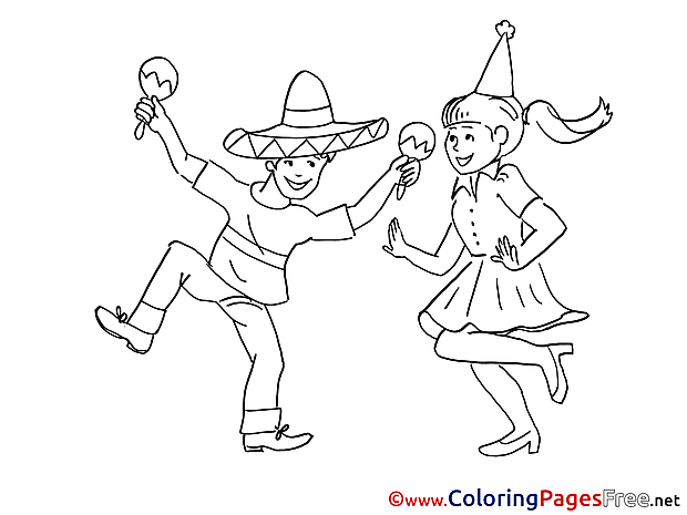 Mexicans download printable Coloring Pages
