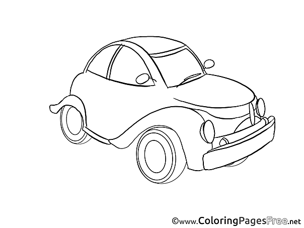 Car Kids download Coloring Pages