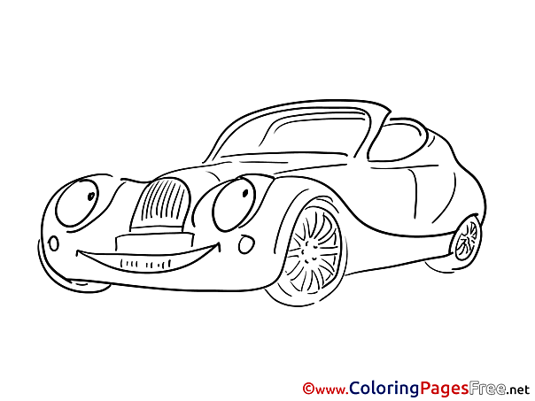 Coloring Pages for free Car