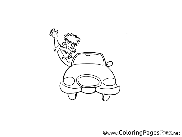 Man Car printable Coloring Sheets download