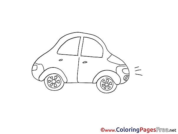 Mini Car download Colouring Sheet free