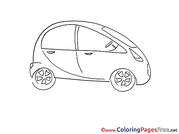 Mini Car printable Coloring Pages for free