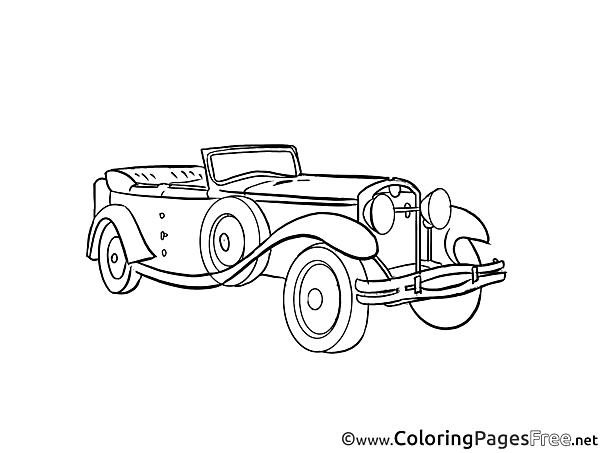 Retro-car download printable Coloring Pages