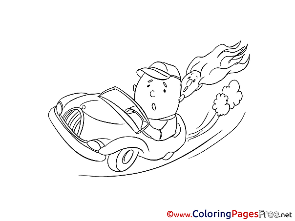 Speed for Kids printable Colouring Page