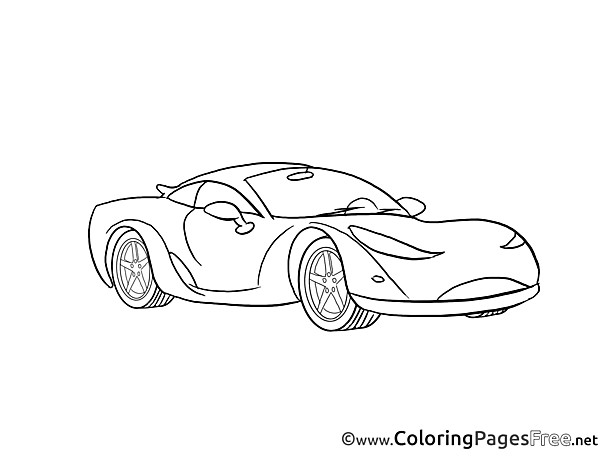 Sport Car free Colouring Page download