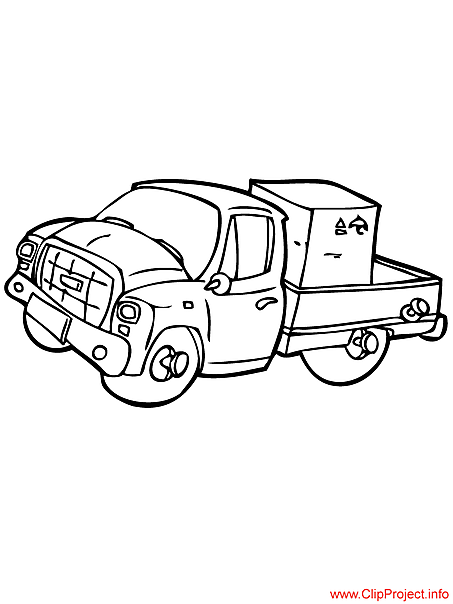 Truck colouring sheet for free