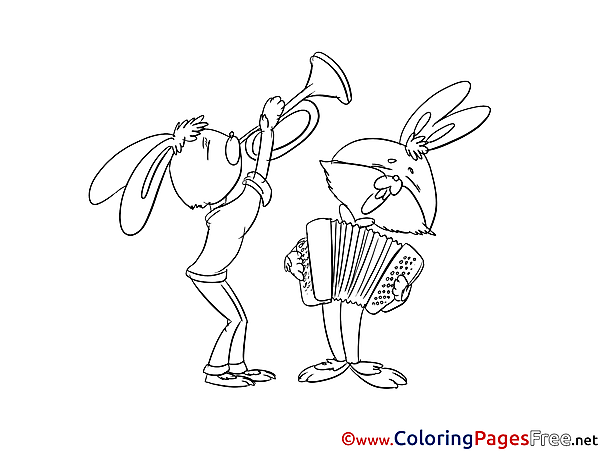 Accordion download Colouring Sheet free