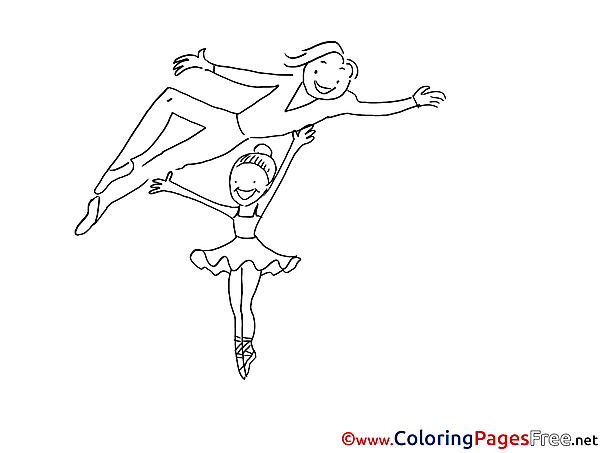 Ballet for free Coloring Pages download