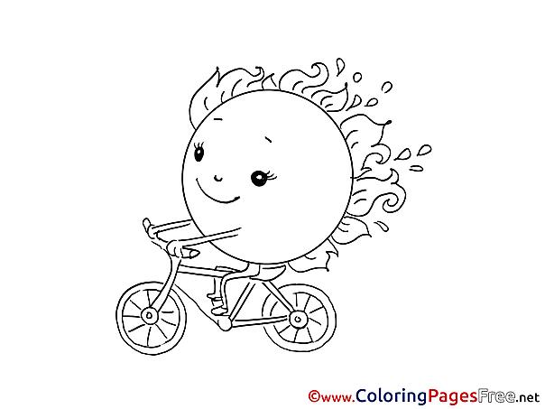 Bicycle printable Coloring Sheets download