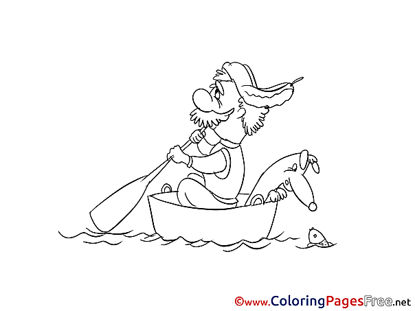 Boat download Colouring Sheet free