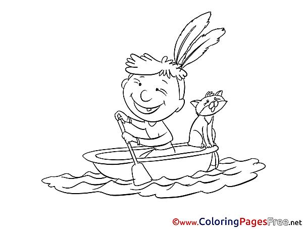 Boat free printable Coloring Sheets