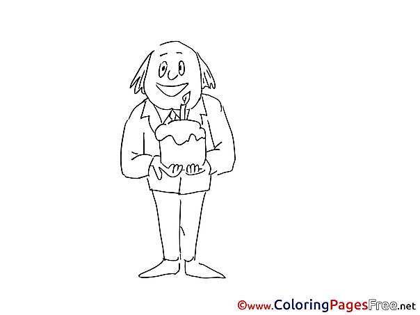 Cake for free Coloring Pages download