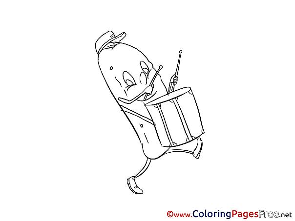 Cucumber Kids free Coloring Page