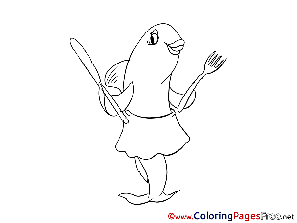 Fish Children download Colouring Page